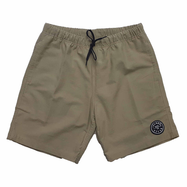 Mens Elasticated Cotton Twill Shorts