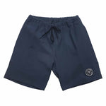 MENS ELASTICATED COTTON TWILL SHORTS - NAVY