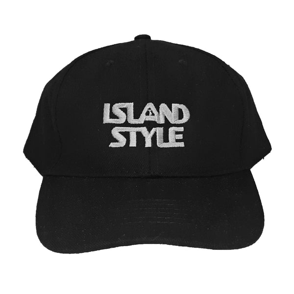 Island Style STACKED logo Curve Peak Cap (one size fits all)