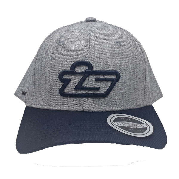 IS Uflex Cap Curved Peak Grey Black - I5 Logo (One size fits all)
