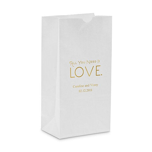 """All You Need is Love"" Self Standing Paper Bag"