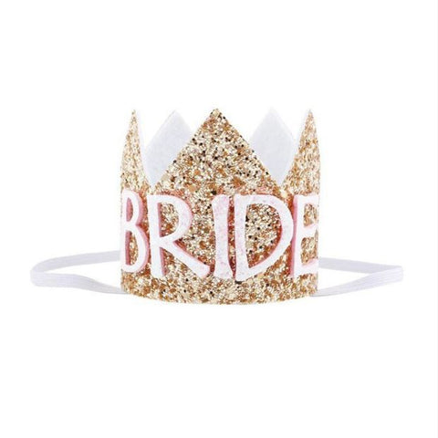 Glitter Bride Mini Crown Headband
