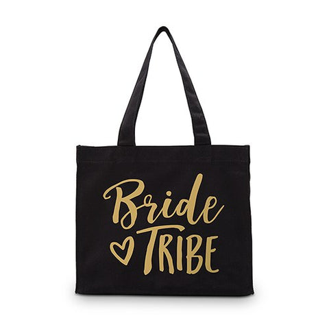 Bride Tribe Black Canvas Tote Bag - Mini