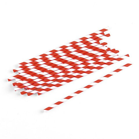 Candy Cane Paper Straws