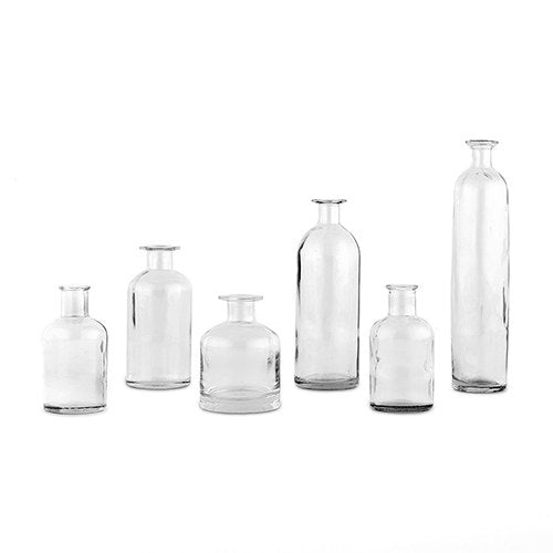 Glass Bottle Decor Set