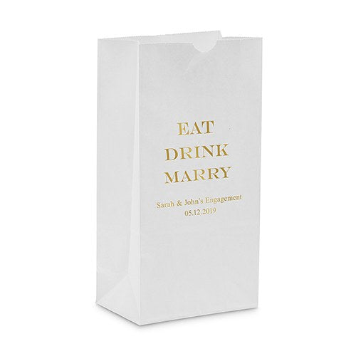 Eat Drink Marry Self Standing Paper Bag