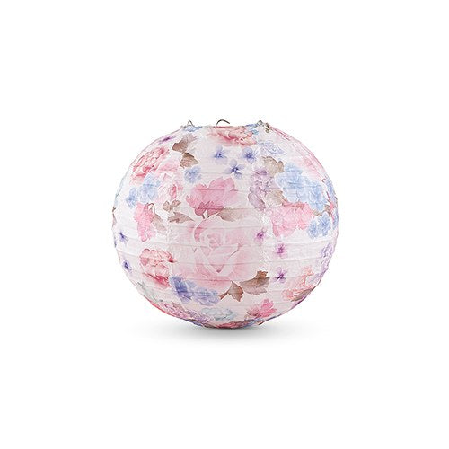 Floral Watercolor Paper Lantern