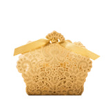 Classic Lace Favor Box With Ribbon