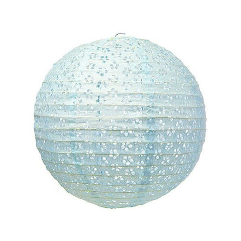 Small Lace Paper Lantern - Light Blue