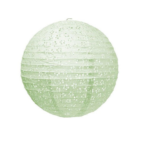 Small Lace Paper Lantern - Mint