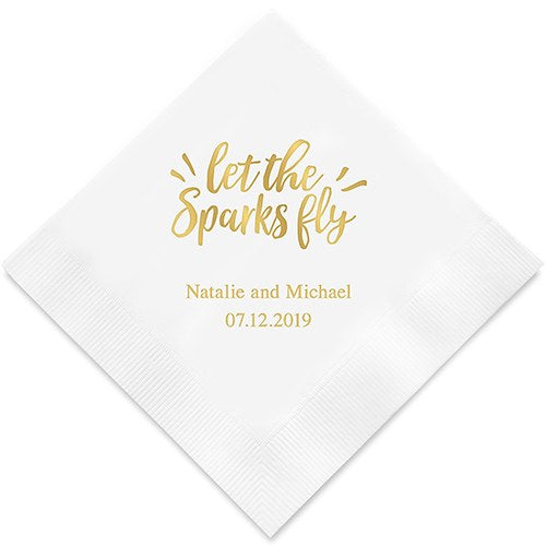 Let The Sparks Fly Printed Paper Napkins