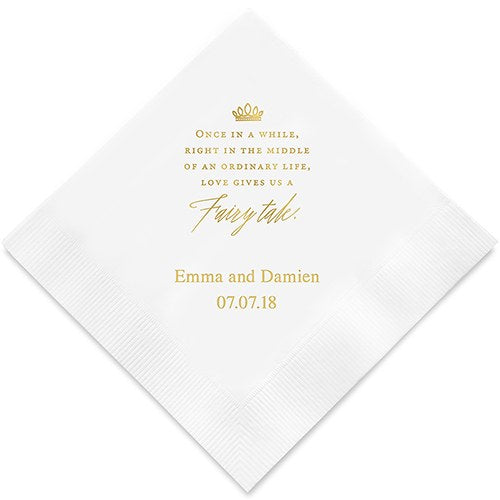 Love Gives Us A Fairy Tale Printed Paper Napkins