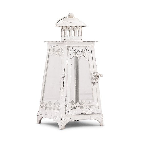 Metal & Glass Pyramid Lantern