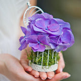 Miniature White Birdcage Favor Containers