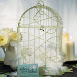 Romantic Birdcage with Bird Accent - Ivory