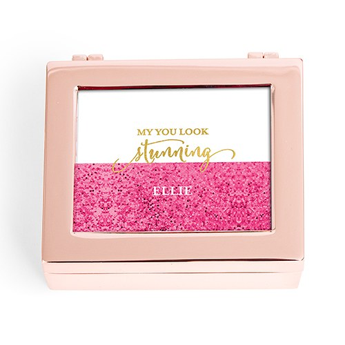 Modern Jewelry Box - Glittered Bottom with Foil Greeting