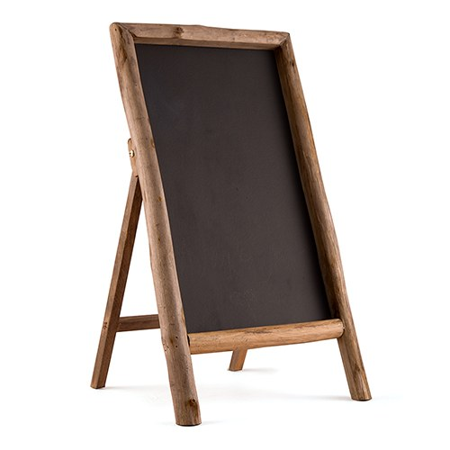 Self Standing Chalkboard Sign with Rusting Wood Frame