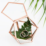 Small Glass Pentagon Ring Box - Customized Artwork