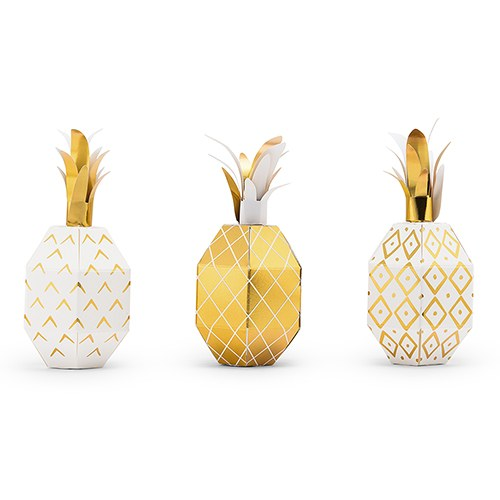 Tropical Pineapple Favor Boxes