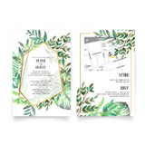 Tropical Watercolor Invitation - 25 sets