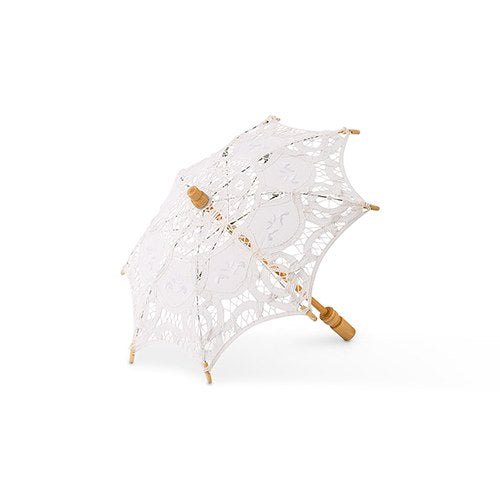 Antique Minature Lace Parasol - White