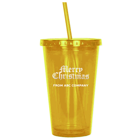Acrylic Tumbler - Yellow