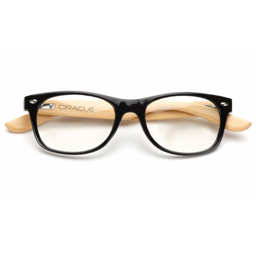 Custom Wooden Computer Glasses - Black