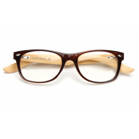 Custom Wooden Computer Glasses - Red