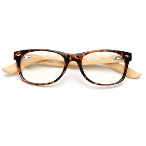 Custom Wooden Computer Glasses - Brown