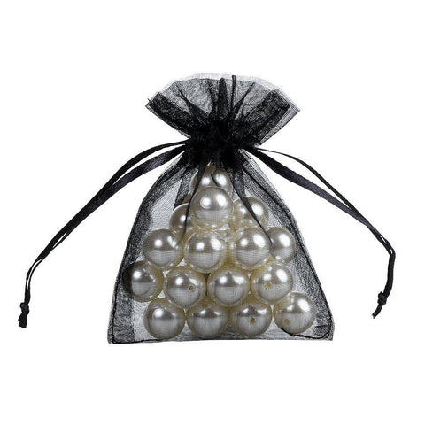 50 Sheer Fairy Pouches - Black