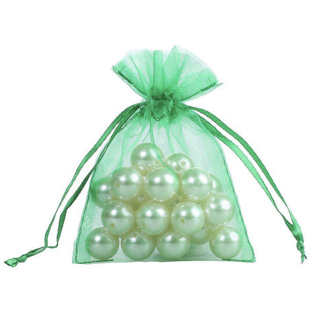 50 Sheer Fairy Pouches - Green