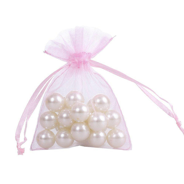 50 Sheer Fairy Pouches - Light Pink