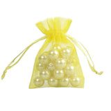 50 Sheer Fairy Pouches - Yellow