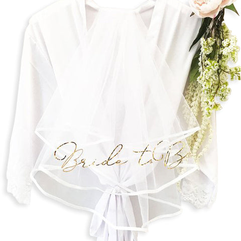 Bride to Be Bachelorette Veil