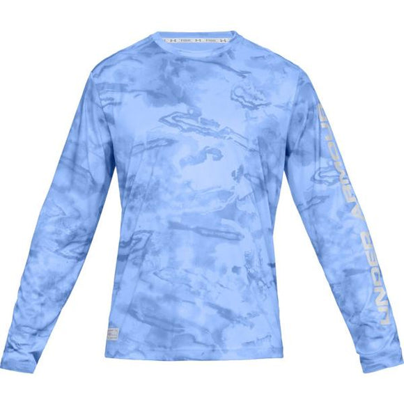 Under Armour Iso-Chill Shore Break Camo Crew Men's Fishing Long Sleeve Shirt