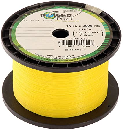 ** WE WILL SPOOL IT FOR YOU !!! ** POWER PRO BRAID (15LB. YELLOW)