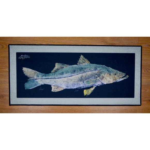 Real-Fish Gyotaku Floor Mat (Snook)