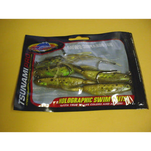 "Tsunami Pro 5"" Pro Holographic Swim Bait,  Trout Mauler Golden Bunker w/Spots,  Pack of 6"