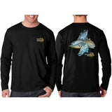 Southeastern Longsleeve Fishing Shirt - Inshore Slam (Black)