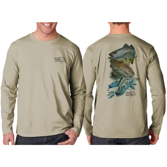 Southeastern Longsleeve Fishing Shirt - Gulf Slam (Brown)
