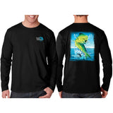 Southeastern Longsleeve Fishing Shirt - Mahi (Black)