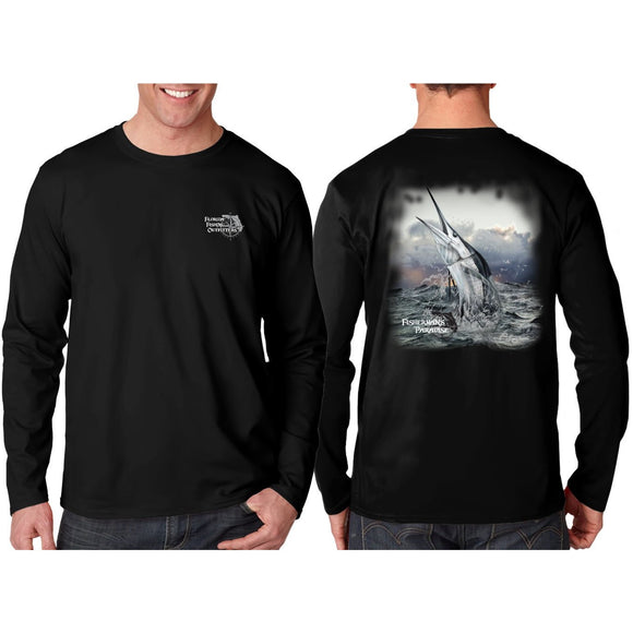 Southeastern Longsleeve Fishing Shirt - Marlin (Black)