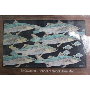 Real-Fish Gyotaku Rug (Snook School)