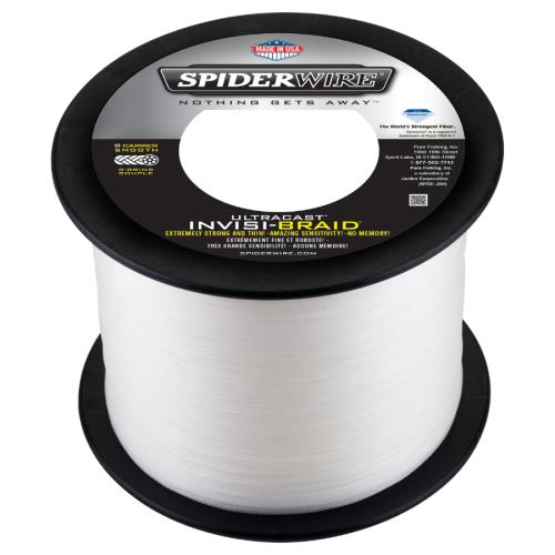 ** WE WILL SPOOL IT FOR YOU !!! ** SPIDERWIRE ULTRACAST INVISIBRAID (15LB WHITE)