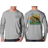 Southeastern Longsleeve Fishing Shirt - Bass (Gray)
