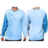 Southeastern Longsleeve Fishing Shirt - Sea Horse (Blue)