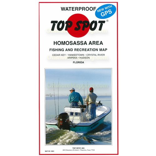 Top Spot Fishing Chart (Homosassa Area)