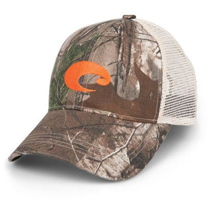 Costa Hats - Mesh Hat (Camo/Orange)