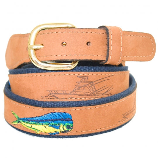 Zep-Pro Leather Belt (Dolphin)