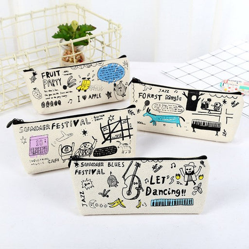 Creative Graffiti Pencil Case Cute Pencil Bag